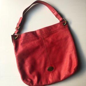 Fossil Pink Shoulder Bag